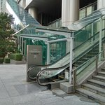 Steps and Escalator to Hotel facing Roppongi Minato-ku and Exit 2 of Roppongi Itchome Station