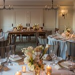 Private diningroom set up before wedding.