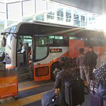 Friendly Airport Limousine Bus Stop at Haneda Airport Bus Stop