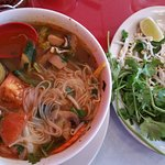 Mr Noy Special,,, Tom Yum with add veggie. Best soup I ever had!!!