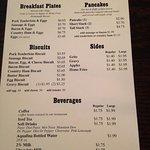 Stamey's breakfast menu