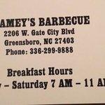 Stamey's address