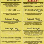 HOT BOX MENU.  **SUBJECT TO CHANGE**