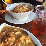 Iced Thai tea with curry
