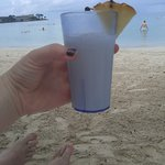 1 of dozens of terrific pina colada's had on the beach!