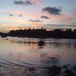 Entardecer na Boca da Barra