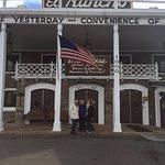 front of El Rancho hotel in Gallup, New Mexico