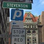Turn Left onto Stevenson from Third St - Address is 217 Stevenson