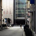 217 Stevenson Street Entrance - autos and bellman