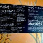 Large menu board