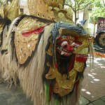 The Barong frightens away bad spirits