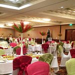 Christmas Lunch Ballroom Setup