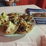 Best meal in Mexico. 12 total tacos (the al pastor are the best), 2 empanadas and 2 drinks with
