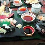 【なか富】寿司と天ぷらの定食