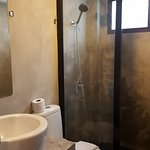 Nice bathrooms with good water pressure and nice and hot...
