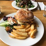 Cajun chicken burger and lamb salad