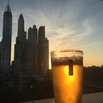 Golden Sunset at the rooftop bar - food ok - nothing amazing but easy to get to if staying in ho