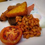 Vegetarian Cooked Breakfast with poached egg