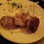 Beef Meatballs with Cucumber salad