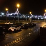 North view from Ocean Bay Hotel during Blackpool illuminations.