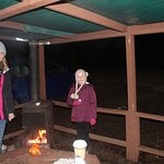 outdoor stove and picnic area