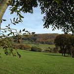Looking across at Barlings nestling against the beautiful hills.  Wow!!  Autumn colour