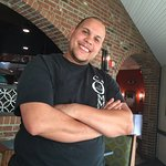 Issam Najib the Kitchen Manager stopped by to see how we enjoyed our meal!