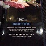 Hinode Course IDR362,000++ Menu