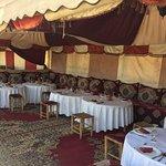 Ait Bougumez restaurant sitting area