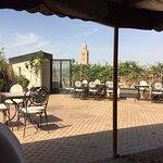 Ait Bougumez restaurant terrace view
