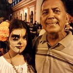 A nice local and his niece at the parade