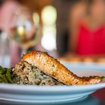 Citrus Salmon with herbed rice pilaf