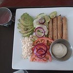 Room Service Flautas plate