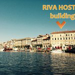 Riva Hostel Building from our boat