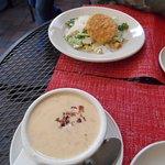 Crab/corn chowder with side caesar