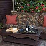 relaxing wraparound porch