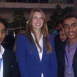With the British Ambassador of Yemen Jane Marriott.