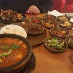 I got Kimchi soup Kimchi Jiggae (SPICY) but good