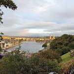 Just a short walk from the B&B to Inverness castle. The sun is just rising over River Ness.