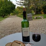Meat, cheese, bread Chateau Beau Site wine on the terrace!