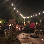 Wonderful  ambiance with the outdoor fire & string lights. Food great, had the chipotle bean dip