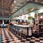 inside of retro diner ( Bing's Diner in Burnham)