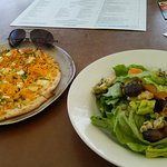 'Large' pizza $25 & pumkpin salad $19.50.