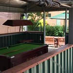 Outside, main bar and outdoor garden