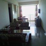 Living area of a single room