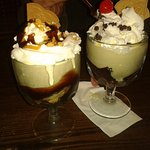 Sundaes with wafers
