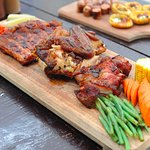 Smoked Platter - Pulled Pork, Quarter Chicken, Half Rack of Ribs and 3 Sides