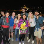 The Yes Hostel Wine Tour - Our group on the roof top terrace with Anna