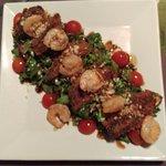 Shrimp and Fried Avocado Salad