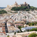 View of La Mota and looking over Alcala la Real from nearby hill.